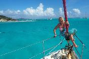 Ankern in den Tobago Cays